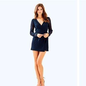 🌴 NWT Lilly Pulitzer Tiki Wrap Romper +Dress Navy
